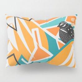 Modern decor with two quails Pillow Sham