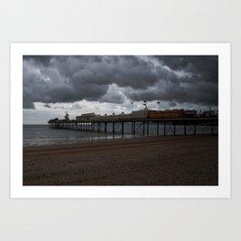 Dark Clouds Over Paignton Pier Art Print