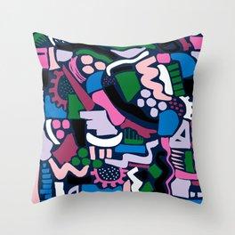 Dark colour scatter Throw Pillow
