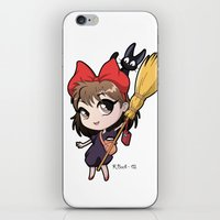 chibi iPhone & iPod Skins featuring Chibi Kiki by Warbunny