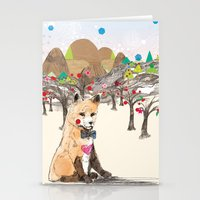 merry christmas Stationery Cards featuring MERRY CHRISTMAS!!!!! by Jo Cheung Illustration