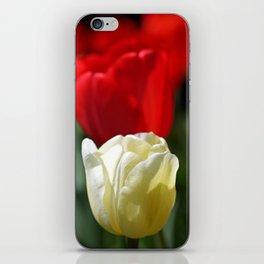 White & Red iPhone Skin