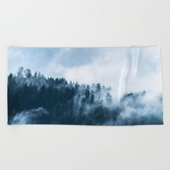 The Wilderness, Foggy Forest Beach Towel
