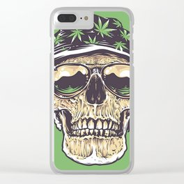 skeleton hat drug Clear iPhone Case