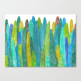 Green Trees and hills Canvas Print