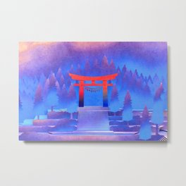 Tengami - Red Gate Metal Print