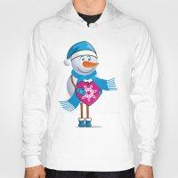 snowman Hoodies featuring Snowman by solomnikov