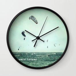Summer dreams. Kite surf Wall Clock