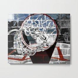 Basketball art swoosh vs 21 Metal Print