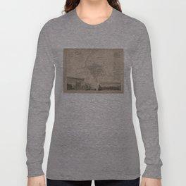Vintage Map of Rennes France (1829) Long Sleeve T-shirt