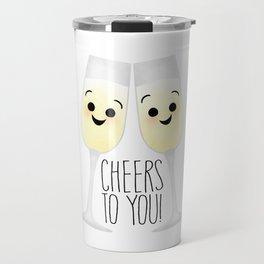 Cheers To You! Champagne Travel Mug