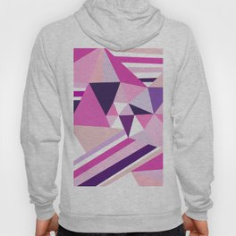Hot pink purple abstract triangles stripes pattern Hoody