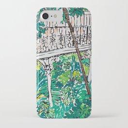 Kew Gardens Jungle Botanical Painting Greenhouse iPhone Case