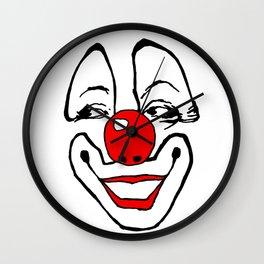 simple clown, clown, payaso, circus, circo, fairground art,  Wall Clock