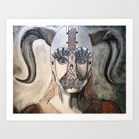 viking Art Prints featuring Viking by Hannah Brownfield Camacho