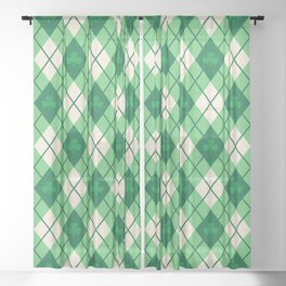 Irish Argyle Sheer Curtain