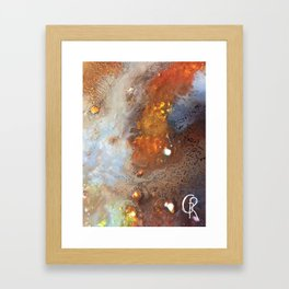 Crater Original Abstract Painting, Mixed Media On Canvas Framed Art Print