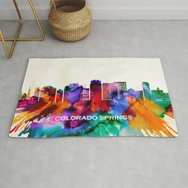Colorado Springs Skyline Rug