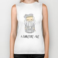 dumbledore Biker Tanks featuring A-DUMBLEDORE-ABLE.  by BeckiBoos