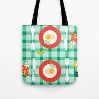 breakfast Tote Bags featuring breakfast by vitamin