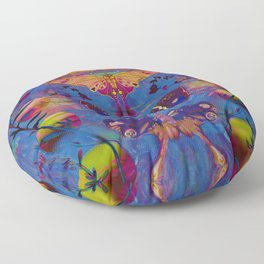 Midnight Moth Floor Pillow