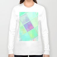 lv Long Sleeve T-shirts featuring Re-Created Mirrored SQ LV by Robert S. Lee by Robert S. Lee Art
