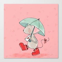 Little Mouse - Lovely Rain Canvas Print