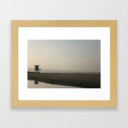 Sunrise at the coast Framed Art Print