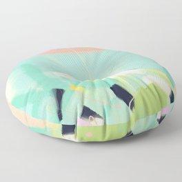 minimal floral abstract art Floor Pillow