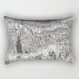 Imaginary Cityscape Rectangular Pillow