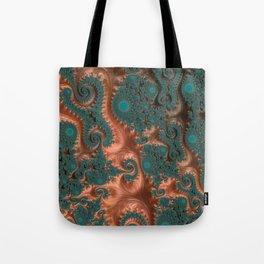 Copper Leaves - Fractal Art Tote Bag