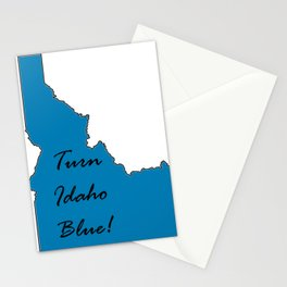 Turn Idaho Blue! Proud Vote Democrat Liberal! 2018 Midterms Stationery Cards