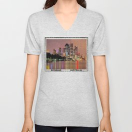 Brisbane City Unisex V-Neck
