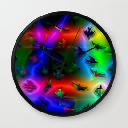 Birds of fantasy and colors ... Wall Clock