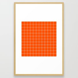 Flame Grid Framed Art Print