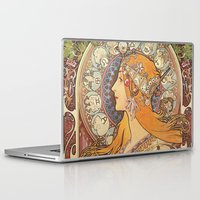art nouveau Laptop & iPad Skins featuring Art Nouveau by NELOS Cisneros