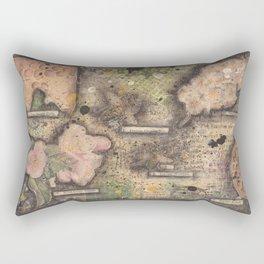 Honey Bee canvas collage Rectangular Pillow