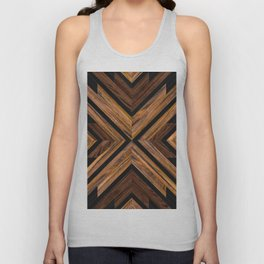 Urban Tribal Pattern 3 - Wood Unisex Tank Top