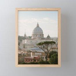 St. Peter's Basilica at Sunset Framed Mini Art Print