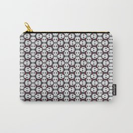 Pixelated skulls pattern Carry-All Pouch