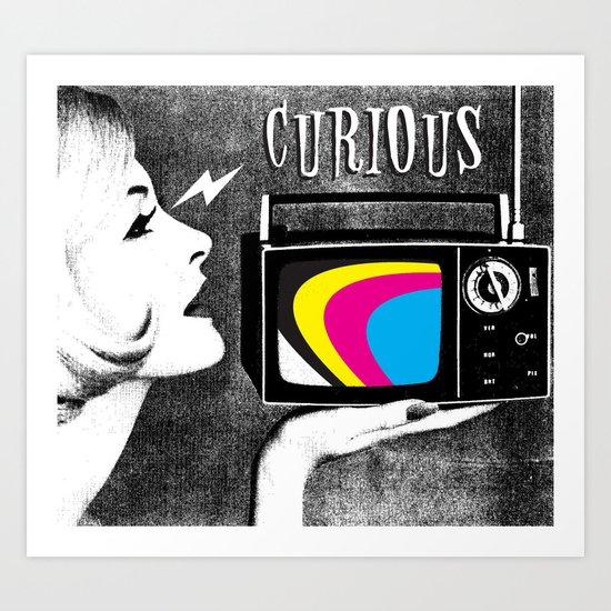 Curiosity Gal Art Print