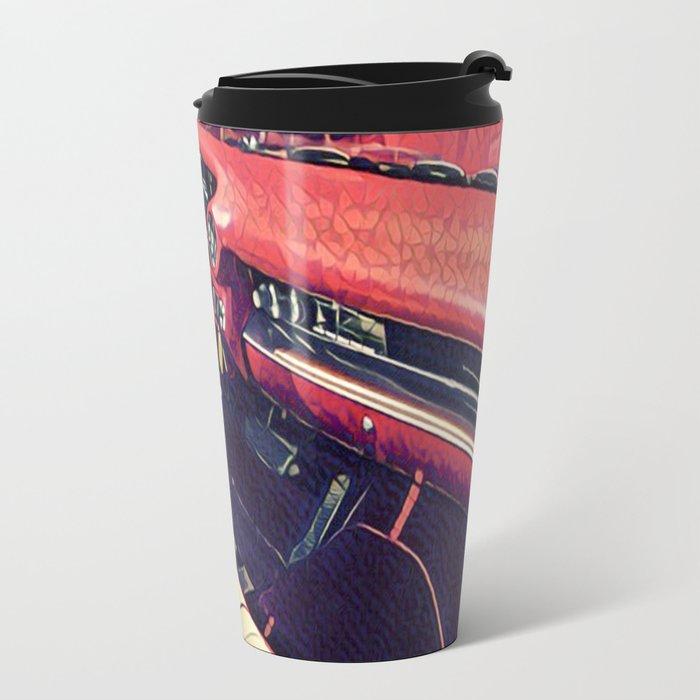 1959 Classic Cadillac Convertible Interior Travel Mug