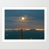 Harvest Moon Night Art Print