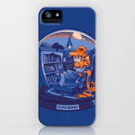 I Love Books and Cats iPhone Case