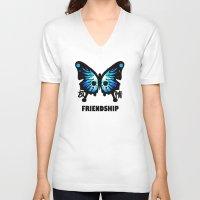 friendship V-neck T-shirts featuring Friendship by Jinventure