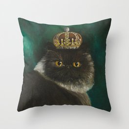 DONETE, A FANCY CHOCOLATE PERSIAN CAT Throw Pillow