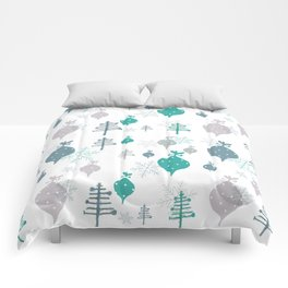 Christmas white ornaments Comforters