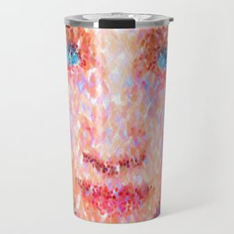 Girl In A Blue Headdress Travel Mug