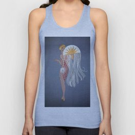"1920's Art Deco Design ""The Flapper"" Unisex Tank Top"
