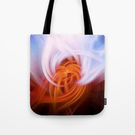 Heaven And Hell Light Fibers Tote Bag